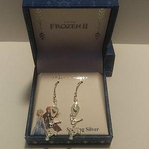 Disney Frozen ll OLAF Earrings Sterling. New